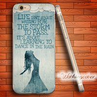 Wholesale Iphone 4s Rain Cases - Capa Dance in the rain Soft Clear TPU Case for iPhone 6 6S 7 Plus 5S SE 5 5C 4S 4 Case Silicone Cover.