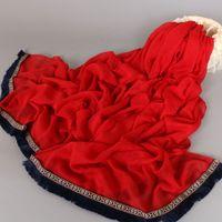 Wholesale Muslin Shawls - 2017 popular tassels shawls hot selling women solid soft cotton hijab wrap luxury muslin muffler scarves scarf 180*90cm