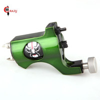 Wholesale Crazy Machines - Wholesale-Crazy Top Selling Newest Bishop Face Rotary Tattoo Machine Green Colors Tattoo Tachine For Liner and Shader Free Shipping