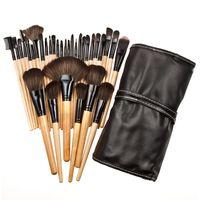 Wholesale Set Brushes 32 Pieces - Wholesale-32 Piece Makeup Brushes Set Concealer Liquid Blusher Powder Foundation Eye Shadow Eye Definer Eye liner Brush Cosmetic Tool FE#8