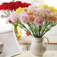 Wholesale carnations flower colors for sale - 11pcs cm colors carnations silk decorative artificial flower for Mother s Day Gifts and home decoration