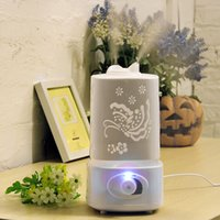 Wholesale Industry Lighting - 1.5L Aromatherapy Air Fresher Humidifier Fogger LED Night Light With Carve Aroma Diffuser Mist Maker Diffuser for Home Office