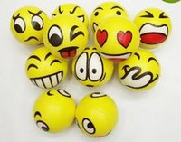 Wholesale 2017 Christmas party FUN Emoji Face Squeeze Balls Stress Relax Emotional Toy Balls Fun Office Holiday Gift Stocking Stuffer Gag Toy