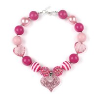 Wholesale Cheap Chunky Beads - Cheap Free Shipping Fashion Beaded Kids Jewelry Chunky Bubblegum Beads Necklaces Design For Gift