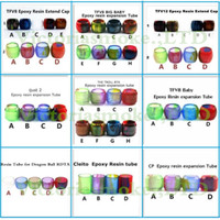 Wholesale Dragon Pen Ball - Replacement Resin Tube Caps for Smok TFV12 TFV8 Baby Big Baby Tank Cleito 120 Vape pen 22 iJust 2 Dragon Ball RDTA CP RTA Drip Tip