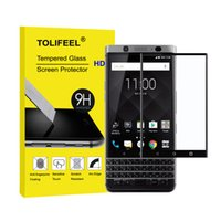Wholesale Blackberry Protector Cover - TOLIFEEL Black 3D Full Cover Curved Cury Tempered Glass Film 9H Screen Protector For Blackberry Keyone DTEK70