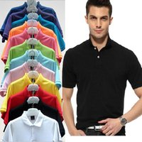Wholesale Ralph 16 - New 2017 Summer Solid Casual Polo Shirt Embroidery LOGO Men Short Sleeves Breathable Wear Mens Polo Shirt Brands S-5XL 16 Color