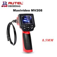 Caméra De Diagnostic Pas Cher-Autel Maxivideo MV208 MV 208 Digitalcope Inspection Videoscope Diagnostic Boroscope Appareil endoscope 8.5mm Imager Head 2.4