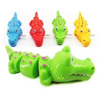 Wholesale Wriggle Toys - 2017 Funny Colorful Chain Winding Toy Four Colors Of Realistic Wriggling Snake Crocodile Wind Up Toys
