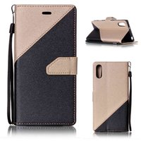 Wholesale Xperia Wallet - Sony XZ Case Retro Luxury PU Leather Slim Wallet Flip Cover for Sony Xperia XZ F8332   XR Shockproof Protective Case