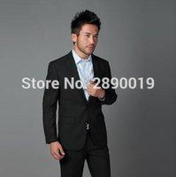 Wholesale Trajes Hombre Fashion - Wholesale- Mens Suits Wedding Groom Terno Slim Fit Suit Men Trajes Hombre Formal Wear Cool Men's Suits Single New Fashion Men Suits