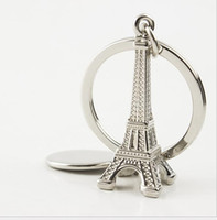 Wholesale Eiffel Tower Holders - Hotsale Mini Paris Eiffel Tower Keychain Creative Metal Key Pendant Small Gift Car keys bag pendant Key Ring Decoration Key Holder