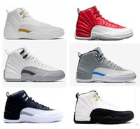 Wholesale Dropshipping Shoes - Dropshipping air retro 12 XII ovo white basketball Shoes wool GS Barons White Black Wolf Grey Flu Games taxi Playoffs the master Sneakers