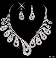 Wholesale cheap indian bridal jewelry sets - 2017 cheap Chic Beach Boho Bridal Jewelry Wedding Bridal Rhinestone Accessories Necklace and Earring Ear Stud Style Sets Silver Plated New