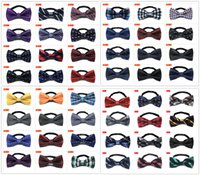 Wholesale 58Color Hot Sale New Mens Bow ties men s ties men s bow ties men bow tie pure color bowtie Star Check Polka Dot