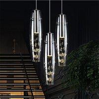 ingrosso sospesi bar a cristallo lampadario-Nuovo ristorante personalità creativa lampada a LED lampadario di cristallo moderno lampada da tavolo minimalista lampada da tavolo lampada a sospensione