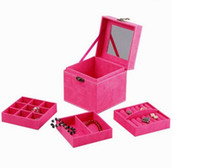 Wholesale Princess Jewellery Box - Jewelry jewelry box jewelry box three layers of gift high-end European style of the ancient Princess jewellery box