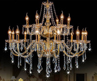 Wholesale Armed Room - Free Shipping AC110V 220V Noble Luxurious Export K9 Clear Crystal Chandelier 6 8 10 12 15 18 Arms Export Class A K9 Crystal