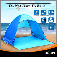 Wholesale Portable Ventilation - LookDream Portable Pop up Beach Fish Hiking Camping Automatic Opening Instant Tent Sun Shelter with ventilation Multiple Color By DHL Free