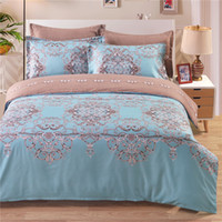 Wholesale Duvet King Size - Fresh Blue Green Spring Bedding Set Of 2PC-3PC Duvet Cover Set Quilt Cover Pillowcase Twin Queen King Size Factory Price
