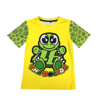 Wholesale Riding Shirt Motorcycle - Children's clothing sports bike motorcycle riding fashion Kid's T-shirt Quick-dry for Valentino Rossi VR46 T shirt 46 the doctor