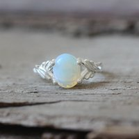 Wholesale Bella Moonstone - moonstone ring lovely girl bella ring vampire movie inspired The Saga jewelry oval stone silver charm C373R-
