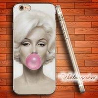 iphone fall monroe großhandel-Capa Luxus Marilyn Monroe weichen klaren TPU Fall für iPhone 6 6S 7 Plus 5S SE 5 5C 4S 4 Fall Silikon Cover.
