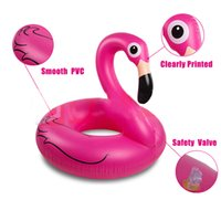 Wholesale Inflatable Floating Mat - Inflatable Flamingo Swimming Ring Giant Pool Float Mattress Mat Swimming Circle for Adult Beach Summer Water Game Party Toy