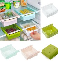Wholesale Wholesale Plastic Drawer Organizers - Kitchen Refridgerator Fridge Space Saver Freezer Organizer Storage Rack Holder Fridge Freezer Shelves Holder Pull-out Drawer bin KKA1555