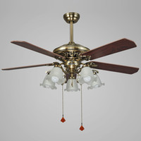 ceiling fan led pendant lamps e27 black red style ac 220v led pendant lights with metal glass for living room