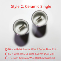 Wholesale Cheapest Dual wax coils for cannon vase bowling atomizer dual coils wax oil Ceramic rod wax for Glass metal vase Cannon Bowling atomizer