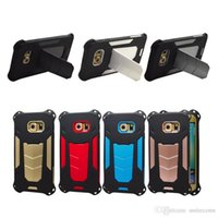 Wholesale Iphone 5g Tpu - 2in1 Ironman Case Cellphone Case For iPhone7 7G Plus 6G 6S Plus IPhone 5 5G 5S With Kickstand Hard PC+Soft TPU