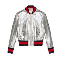 модная куртка бомбардировщика женщины оптовых-Wholesale- 2016 New Bomber Jacket women baseball Jacket Fashion Top Quality patch Color leather Spring and Autumn skin coat for women Coats