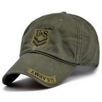 qualitätsarmeehüte großhandel-Hohe Qualität US Army Cap Camo Mens Baseballmütze Marke Taktische Kappe Mens Hüte und Caps Gorra Militar für Erwachsene