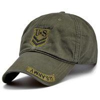 qualitätsarmeehüte großhandel-Neue Qualität US Army Cap Camo Herren Baseball Cap Marke Tactical Cap Herren Hüte und Mützen Gorra Militar für Erwachsene