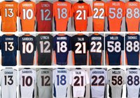 Wholesale Peyton Manning Jersey Xxl - Wholesale 12 Paxton Lynch Jersey Blue White Orange 18 Peyton Manning 88 Demaryius Thomas 58 Von Miller 10 Emmanuel Sanders 13 Trevor Siemian