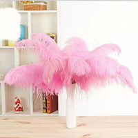 Wholesale black yellow party decorations resale online - 13colours DIY Ostrich Feathers Plume Centerpiece for Wedding Party Table Decoration Wedding Decorations hot selling CM