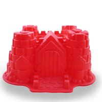Wholesale Wholesale Kids Baking Sets - Castle Cake Shape baking mould Silicone Kids Baking Bakeware Bake Set Kitchen Cooking Reusable Tray Mould Muffins Cake Jelly Ice Cubes Gift