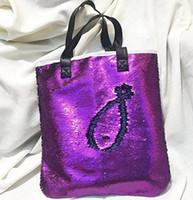 Wholesale Candy Change - Mermaid Sequin Totes for Women One Shoulder Bags Sequins Shoulder Bag Handbags for Ladies Change Color Mermaid B