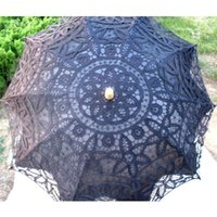 Shade black lace parasols - New Black Bridal Accessories Wedding Lace Parasol White Lace Umbrella Victorian elegant Lady Costume Accessory Bridal Party Decoration