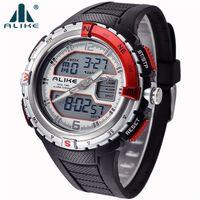 Wholesale Watches Sport Digital Alike - 2016 Brand ALIKE Casual Sports Watch Men G Style Waterproof Military Watches Shock Men's Luxury Analog Quartz Digital Watch