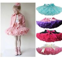 Wholesale fluffy skirts - Girls Tutu Skirt Fluffy Children Ballet Kids Pettiskirt Baby Girl Skirts Princess Tulle Party Dance Skirts For Girls Skirt KKA3449