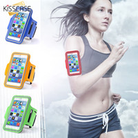 Wholesale Arm Pocket Armband - 2017 New Casual PU Brush Surface Workout Cover Sport Gym Case For iPhone 6 6S 4.7 Arm Band Waterproof Pouch for Apple iphone6 6S