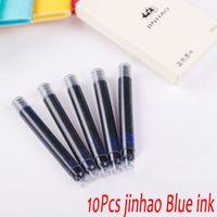 Wholesale Fountain Pen Ink Cartridges Black - Wholesale-10Pcs   Lot Jinhao Fountain Pen Ink High Quality Office School Supplies ink Cartridge Black   Blue 100% New