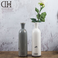 Wholesale Ceramic Bottle Vase - DH porcelain ceramic table flower vases bottle vintage home decoration accessories for Home Display window wedding decoration