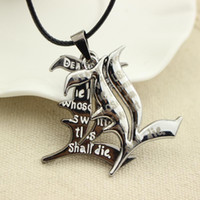 Wholesale Death Note Anime Necklace - Free Shipping Death Note Double l Yagami Non-Mainstream Necklace Smart Anime Fashion Jewelry Pendant Cosplay Unisex Accessories