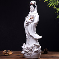 Wholesale Fine Master - Ceramic Buddha Guanyin ornaments free Avalokiteshvara feng shui master of fine arts and crafts large 20 inch
