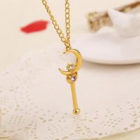 ingrosso ciondolo giapponese ragazza-Alta qualità Giappone Sailor moon Collane 7 stili Moda animazione giapponese ciondolo in oro collana per le donne gioielli ragazze regalo