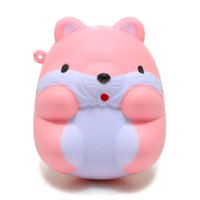 Wholesale Mini Charms Phone - 8CM Kawaii Cartoon Animal Squishy ibloom Mini Hamster Phone Pendant Sweet Scented Bread Cake Squeeze Slow Rising Toy Wholesales