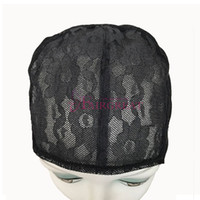 Wholesale Wigs Wholesale Prices - Wholesale price Wig Caps For Making Adjustable Straps Back Swiss Lace Full Front Lace Wig Cap Wig Weave Net Hair Extensions Best Quality